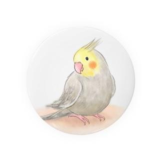 オカメインコ シナモン【まめるりはことり】 Badges