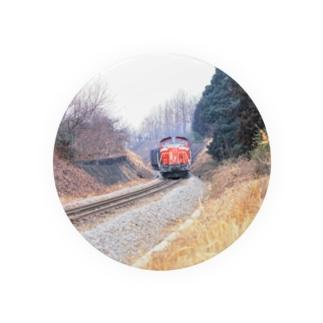 日本の鉄道:冬の八高線 Japanese rail: Cargo train at Hachiko-sen  Badges
