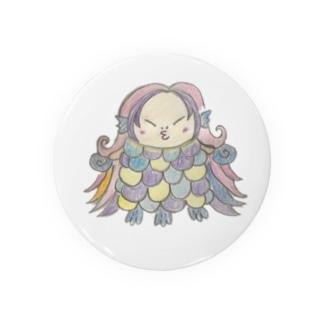 アマビエ様風 ギンビエさま(カラー) Badges