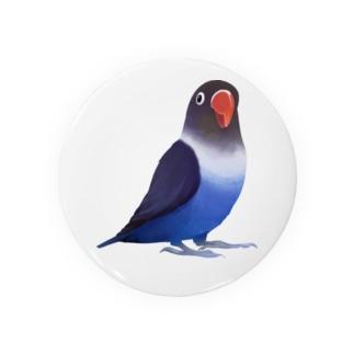 ボタンインコ おすましコバルトブルー【まめるりはことり】 Badges