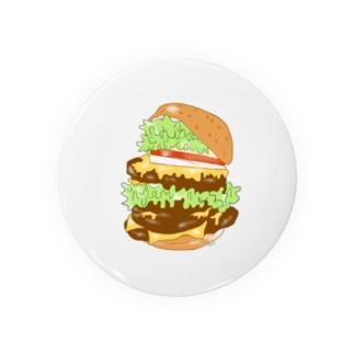 サン・アートエンターテインメントのハンバーガー缶バッジ Badges