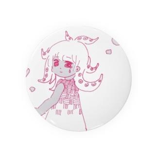 Octopus girl_komono Badges