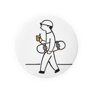 スケボー少年の缶バッジ Badges