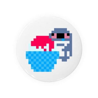 かき氷が食べたいケープペンギン Badge