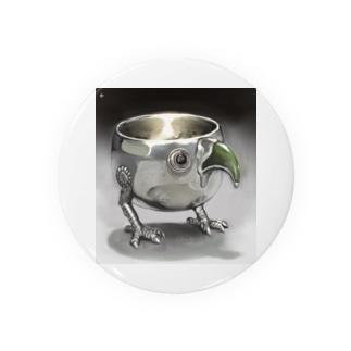 幾瀬陽七乃@お仕事募集中の金属の鳥のコップ Badges