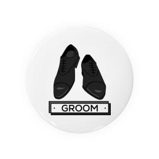 ペア(GROOM)シューズ_ブラック Badges