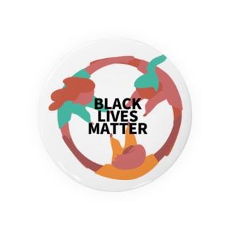 RIRI_designのBLACK LIVES MATTER(ブラック・ライブス・マター)サークル2 Badges