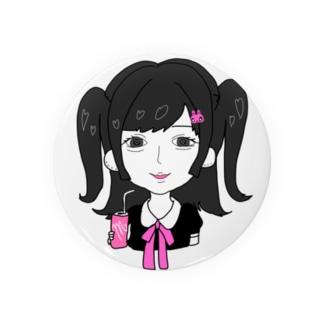 犬田蜜華梨(inudamitukari)のハーフツインの女の子 Badges