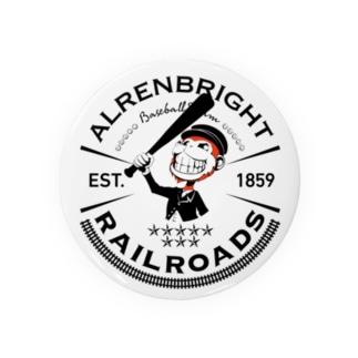 Railroads お猿さんエンブレム 黒 Badges