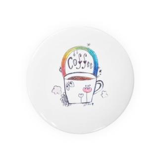 coffee rainbow Badges