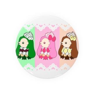 3色パフェアマビエ Badges
