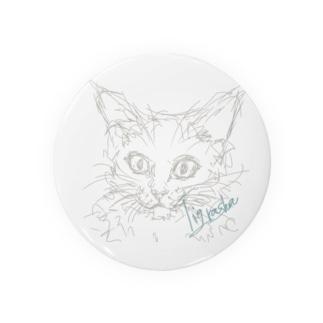 手癖で描いた猫 Badges