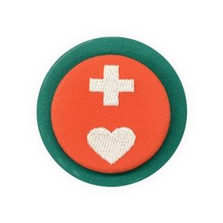 刺繍缶バッチ ヘルプマーク Badges