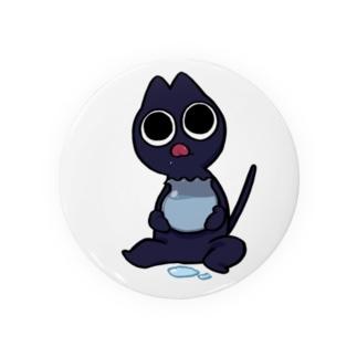 お食事した黒猫 Badges