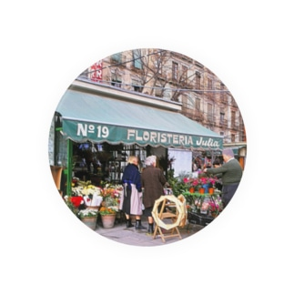 FUCHSGOLDのCG絵画:スペインの花屋 CG art: Flower shop in Spain Badges