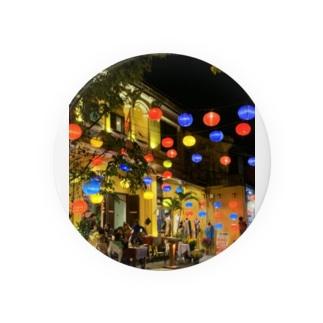 ベトナムホイアンの街並み。 Badges
