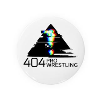 「404プロレス」ロゴ(75mm) Badges