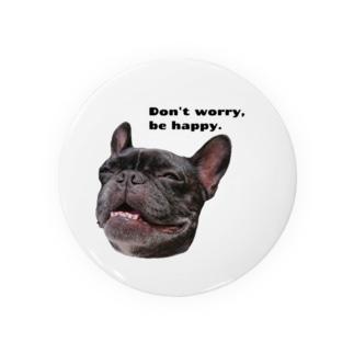 根拠なくポジティブな犬 Badge