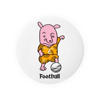 ピンクの犬〜football Badges
