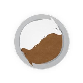 遠目にカレーなオオカミ ライスの位置はお好みで Badges