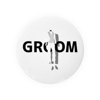 ペア(GROOM)タキシード_白_FB Badges