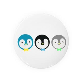 Yuuオリジナルイラスト26 ペンギン3兄弟 Badges