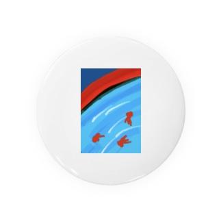 夏祭り(金魚) Badges