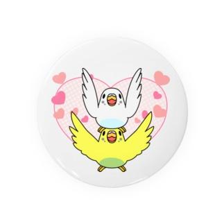 ラブリーセキセイインコ【まめるりはことり】 Badges