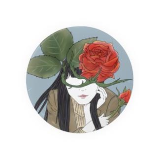 薔薇 女性 Badges