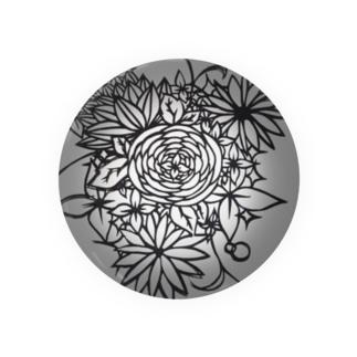 花切り絵 Badges