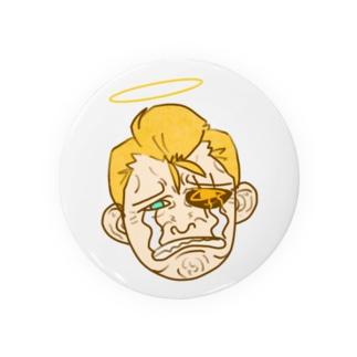 べしょべしょに泣くおじさん天使(カラー) Badges