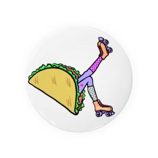 タコス ローラースケート ガール  TACOS ROLLER GIRL DOT 水玉 ドット Tacos Rollerskate Rainbow Badge