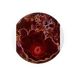 芙蓉 DATA_P_154 Confederate Rose ハスの花の古名 缶バッジ