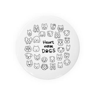 Heart nose DOGS(丸型) Badges