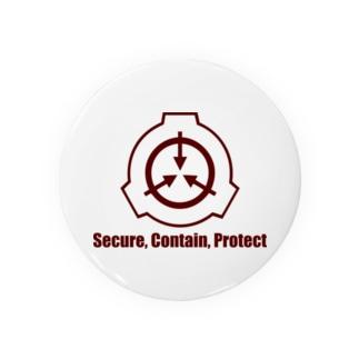 SCP財団ロゴマーク(えんじ) Badges