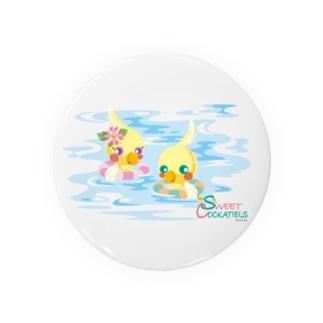 Sweet Cockatiels/浮き輪で海水浴 Badges