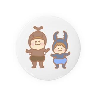 カブトムシとクワガタの子供 Badges