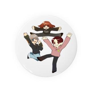 3人組の絵 Badges