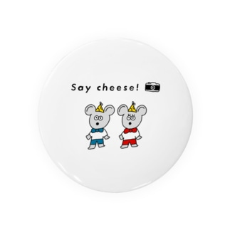 Say cheese! ねずみ Badges