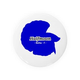 Halfmoon Betta①Mediumblue Tin Badge