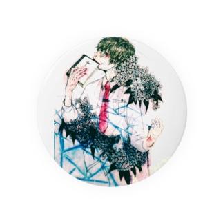 紫陽花男子(color) Badges