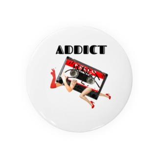 ADDICT×お侍ちょん お遊びデザイン Badges