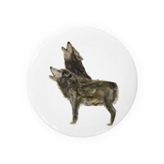 オオカミ Badges