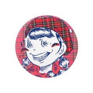 チェックの女の子 Badge