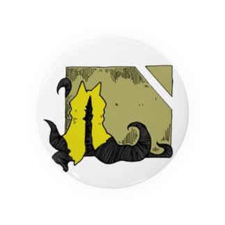 冒涜的な猫ハス(色付き) Badges