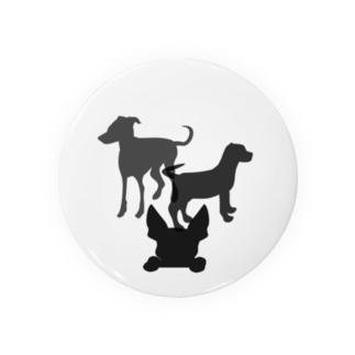 犬のシルエット Badge
