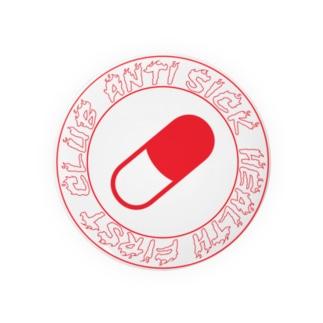 skate Anti sick health first club Badges