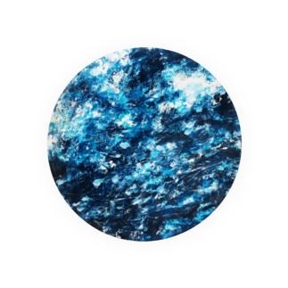 涼しげな青 Badges