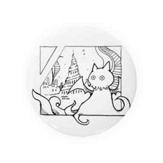 冒涜的な猫ルフ(色なし) Badges
