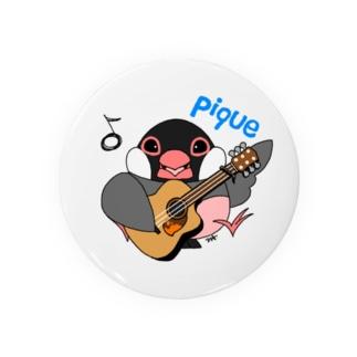 文鳥音楽ピケ(ピケ、ギターver) Badges
